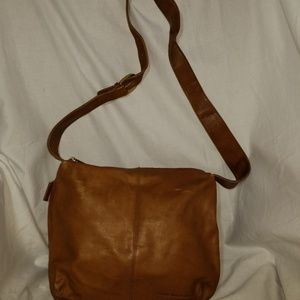 A9,987 Stone Mountain Brown Leather Shoulder Bag